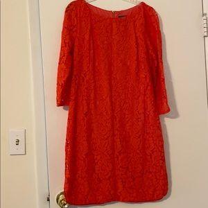 Vince Camuto orange/salmon colored dress size 10